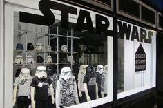 DOVER STREET MARKET: Tachiagari for 2012 Fall/Winter. Includes a 'Star Wars' display window by Rei Kawakubo.
