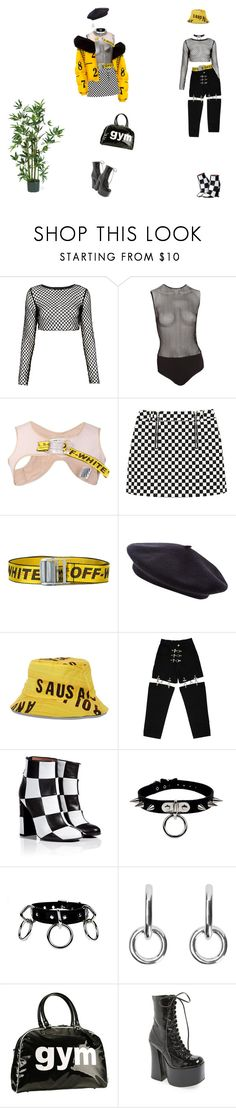 """""""kyoo"""" by miiuyo ❤ liked on Polyvore featuring Motel, Fleur du Mal, Off-White, House of Holland, M.Y.O.B., Laurence Dacade, Sophie Buhai, Trumpette, Jeffrey Campbell and Nearly Natural"""