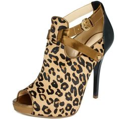 Guess Women's Shoes, Eileney Platform Shooties ($149) ❤ liked on Polyvore