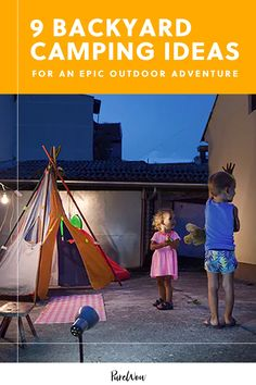 "According to Pinterest, searches for ""backyard camping"" are up a whopping 335 percent, so we thought we'd help those locals explorers out with a guide to planning the best at-home campout ever. #camping #backyard #ideas Creative Activities For Kids, Activities To Do, Creative Kids, Outdoor Activities, Backyard Camping, Backyard Ideas, 4 Person Tent, Outdoor Store, Camping Essentials"