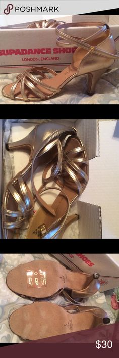 Dance Shoes NWOT Supadance Shoes, brand new, never worn. Has some discoloration as shown in the photos. Made in England. Supadance Shoes Heels