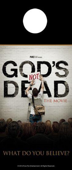 Church Door Hanger - Gods Not Dead - Outreach Marketing