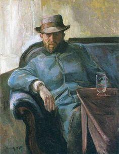 Writer Hans Jaeger Artist: Edvard Munch Completion Date: 1889 Style: Expressionism Period: European period Genre: portrait Technique: oil Ma...