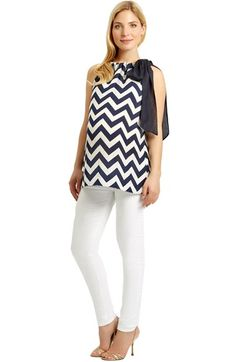 Madderson London Tie Neck Maternity Top available at #Nordstrom