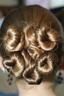 Rosette hair buns