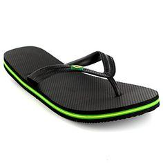 amazing Mens Brazil Logo Beach Summer Brasil Vacation Sandals Shoes Flip Flops