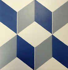 Victorian, Encaustic effect Geometric, Retro style ceramic floor tiles - Cubic