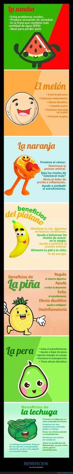 Los beneficios de las frutas #Nutrición y #Salud YG > nutricionysaludyg.com #nutricion #nutricionysalud