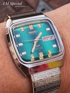 Seiko LM Special Hi-Beat 5216-5000 – Coolest Vintage Seiko Automatic, Seiko Watches, Faceted Crystal, Beats, Jewels, Logo, Retro, Vintage, Style
