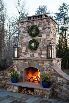 There are lots of pergola designs for you to choose from. You can choose the design based on various factors. First of all you have to decide where you are going to have your pergola and how much shade you want. Outdoor Stone Fireplaces, Outside Fireplace, Outdoor Fireplace Designs, Backyard Fireplace, Fire Pit Backyard, Backyard Patio, Fireplace Outdoor, Backyard Seating, Fireplace Ideas