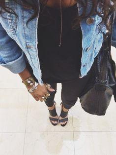 all black || accessories || denim