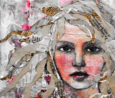 Mixed-media collage by Rachelle Panagarry. Mixed-media collage by Rachelle Panagarry. Mixed Media Faces, Mixed Media Collage, Mixed Media Canvas, Mixed Media Journal, Mixed Media Painting, Collage Kunst, Collage Collage, Face Collage, Collage Artists