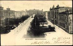 1903 München - Maximilianstraße, im Hintergrund das Maximilianeum