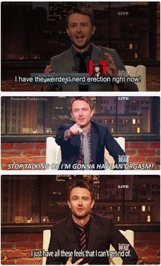 TWD  ...  Talking Dead - Chris Hardwick. OMG I have the HUGEST fucking crush on Chris Hardwick!!!