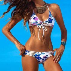 1e53b8ebf20d8 Sexy Hollow Out High Waist Bikini Set Swimsuit Swimwear  L715603  Women  Swimsuits