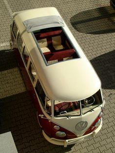 "VW T1 1972 KOMBI BUS 15 win - 4 doors ""SUNROOF"" 1500  Bicolor: CREME / BORDEAUX"