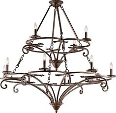 Kichler lights - Kichler Chandelier fixture Model 43779AGZ Caldella Chandelier 12Lt in Aged Bronze. Traditional from the Bronze Tones finishes group in Aged Bronze. - #kichlerlighting #bronzelighting