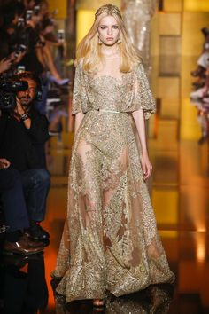 Elie Saab | Fall/Winter 2015 Couture Collection via Designer Elie Saab | Modeled by Barbora Bruskova | Paris, July 8, 2015