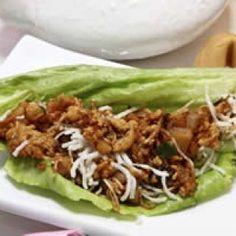 Tacos de Lechuga Orientales con Pollo