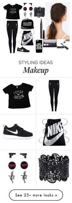 """""""Untitled #279"""" by galaxyoflions on Polyvore featuring MICHAEL Michael Kors, NIKE, Urban Outfitters, Bobbi Brown Cosmetics and Marc Jacobs"""