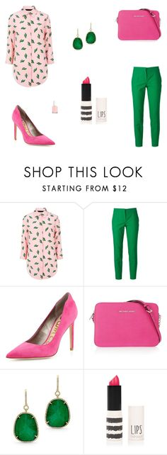 """""""Untitled #5122"""" by mie-miemie ❤ liked on Polyvore featuring American Retro, Dolce&Gabbana, Sam Edelman, MICHAEL Michael Kors, Anne Sisteron, Topshop and Essie"""
