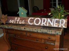 Old Coffee Corner Sign