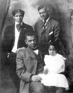 Booker T. Washington with His Family