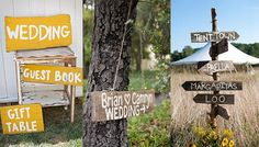 """Rustic Signs...I realize that shefinds means this """"list of 10 things to avoid for your wedding"""" to be serious,  but I lmao! I guess I'm """"HoneyBooBoo Backwoods Redneck"""" to the sophisticated city-folk. That's OK with me :) I absolutely LOVE 8 out of the 10 """"cliches""""......."""