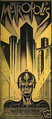 The famously elusive, Art Déco era poster for the silent film Metropolis.