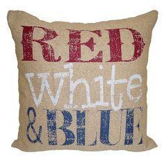 ''Red White & Blue'' Throw Pillow