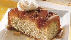 HOMEMADE - Give pineapple upside-down cake a makeover with apples and a sweet caramel sauce.