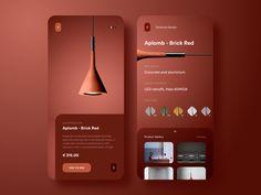 Suspension Aplomb - Brick Red (Product App Concept) by rishi on Dribbble Ui Ux Design, Design Responsive, Interface Design, Layout Design, Flat Design, Responsive Web, Web Layout, User Interface, Wireframe