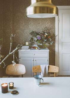 Dining Room Inspiration, Interior Inspiration, Interior Decorating, Interior Design, Home And Deco, Interior Exterior, William Morris, Dining Area, Home Kitchens