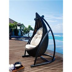 I found 'Tear Drop Hanging Chair' on Wish, check it out!