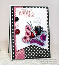 Get Wool Soon stamp set by Power Poppy, card design by Cindy Lawrence.