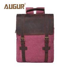 AUGUR Brand New Fashion Mens Designer Backpack Laptop Backpack Canvas Backpacks For Teenage Girls School Bags HT100583