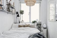 Tiny Scandinavian bedroom