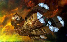 Battlestar Pleides Cruising by Nova1701dms on DeviantArt