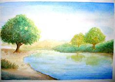 paisagem em aquarela - Pesquisa Google