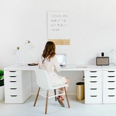 office decor ideas Workspace Inspiration, Home Decor Inspiration, Decor Ideas, Home Office Setup, Office Decor, Office Ideas, Office Interior Design, Office Interiors, Lets Stay Home