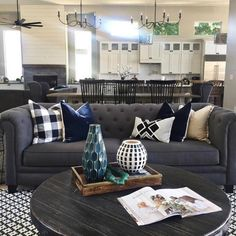 Add a comfy sofa and a few beautifully designed pillows, and you've got yourself a gorgeous home. Photo: Blissful Abode Interiors