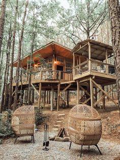 Treehouse Cottages, Treehouse Living, Cabana, Airbnb California, South Usa, Waterfall Photo, Farm Photo, Photo Tree, Rental Property