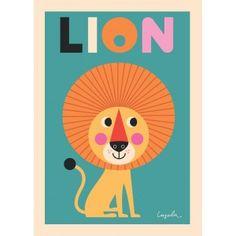 Poster Lion by Ingela P Arrhenius @mosliving - omm design