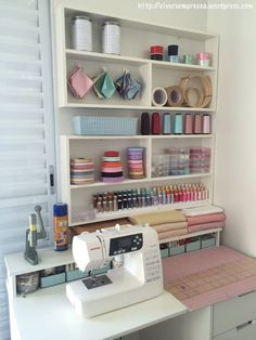ideas for sewing studio ideas design quilting room Sewing Room Design, Sewing Room Decor, Craft Room Design, Sewing Spaces, Sewing Room Organization, Craft Room Storage, Sewing Studio, Sewing Rooms, Craft Rooms