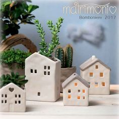 2018 Wedding Favor Ideas, Ceramic Lanterns in the shape of Idee Bomboniere Matrimonio Lanterne Ceramica forma di Casa, Vaso Porta Pia… Wedding Favor Ideas Ceramic Lanterns in the shape of a House, Vase for Fat Seedling - Pottery Houses, Ceramic Houses, Ceramic Clay, Ceramic Pottery, Diy Clay, Clay Crafts, Diy And Crafts, Crafts For Kids, Clay Projects