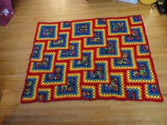 Ravelry: Project Gallery for Tiles Granny Afghan pattern by Darla J. Crochet Quilt, Crochet Home, Crochet Afghans, Crochet Blankets, Granny Square Afghan, Happy Art, Yarn Crafts, Tiles, Crochet Patterns