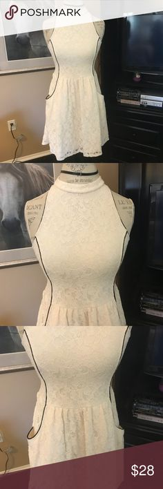 Fire Los Angeles cream lace dress with pockets Dress with pockets Fire Los Angeles Dresses