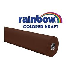 Rainbow Kraft 0066021 Roll, 100' Size, Brown - Rainbow colored Duo-Finish Kraft paper roll measuring 36 in x 100 ft is made from 100% Kraft fiber for superior strength and durability. Fade resistant roll in brown features a toothy side to handle chalk, tempera, watercolor or acrylic paints. The other side of the non-bleed paper is smooth and ...