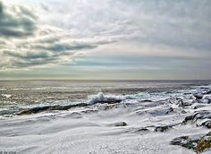 © Richard Bean / 2008 / Wintery Coastline / Captured February 10, 2008 / 10:41 AM / Cape Elizabeth, Maine / Single Exposure / Sigma SD14 / Lens: Sigma 12mm-24mm f/4.5-5.6 EX DG Aspherical HSM / Exposure: / ISO 100 / Focal Length: 21mm / f/5.6 / Shutter Priority / 1/1600 sec  / Tripod / Final processing with Lightroom 4.1, Photoshop CS6, and various plug ins. • Also buy this artwork on wall prints, p...