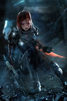 Mass Effect 3 Female Shepard #EA #Conceptart